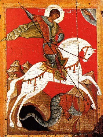Image result for picture of st george killing dragon